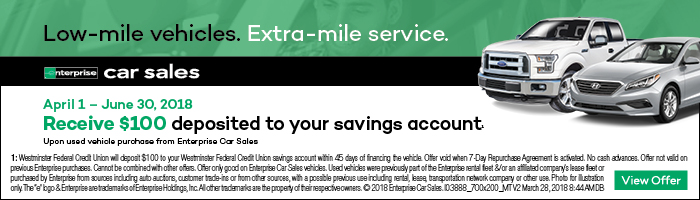 Buy from Enterprise Car Sales and earn $100!